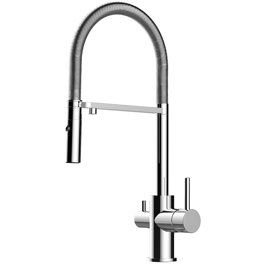 Alassio Pro Chrome Kitchen Mixer Tap kitchen mixer taps 3 way